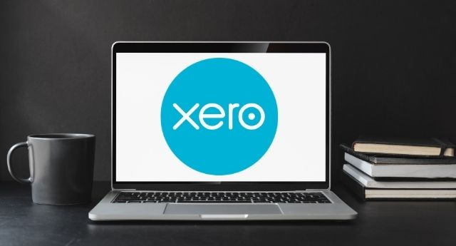 a computer screen with Xero on the front